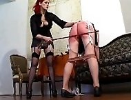 Hard Doctor`s discipline for 2 young misbehaving girls
