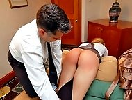 Haven`t done your homework, Sierra? Then over my knee for a spanking!