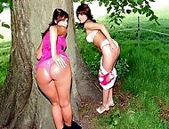 Smack panties down spanking for theft at school sets Alison`s buns bouncing