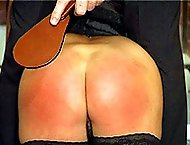 Caned to tears in the cell block - hot blistered ass cheeks