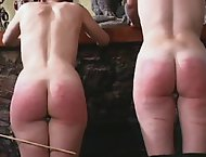 Pair of awesome punk chicks savagely paddled and caned